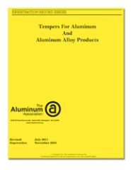 AA-YL-1 YELLOW SHEETS - Tempers for Aluminum & Aluminum Alloy Products