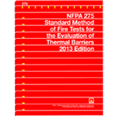 NFPA-275(13): Standard Method of Fire Tests for the Evaluation of Thermal Barriers