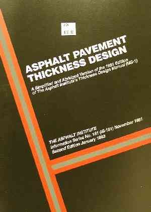 AI-IS-181 Asphalt Pavement Thickness Design