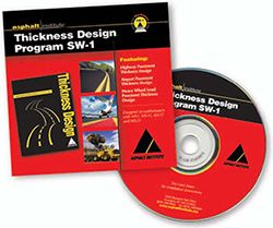 AI-SW-1 Asphalt Pavement Thickness Design Program - CD