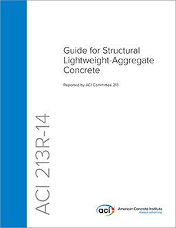 ACI-213R-14 Guide for Structural Lightweight-Aggregate Concrete