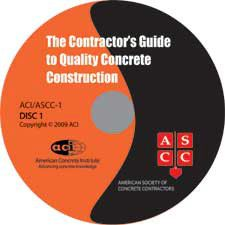 ACI-ASCC-1(05)-CD The Contractor's Guide to Quality Concrete Construction - Third Edition Audio CD with Booklet