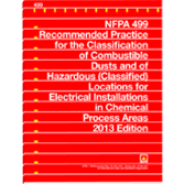 NFPA-499(13): Recommended Practice for the Classification of Combustible Dusts and of Hazardous (Classified) Locations for Electrical Installations in Chemical Process Areas