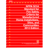 NFPA-501A(13): Standard for Fire Safety Criteria for Manufactured Home Installations, Sites, and Communities