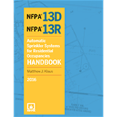 NFPA-13DRHK16 - NFPA 13D,13R: Automatic Sprinkler Systems for Residential Occupancies Handbook, 2016 Edition