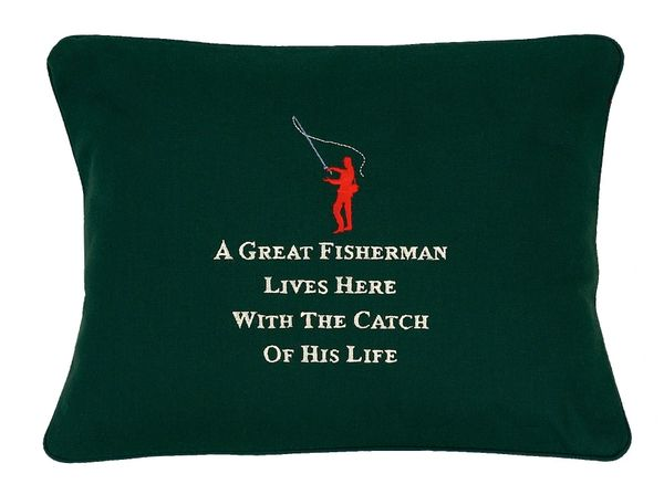 Item # P337 A great fisherman lives here with the catch of his life.