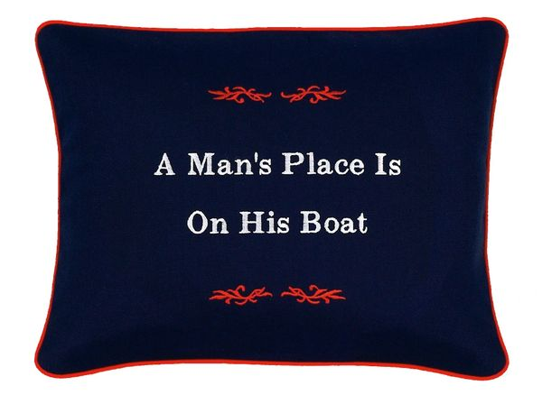 Item # P382 A man's place is on his boat.