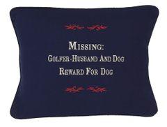 Item # P393 Missing: Golfer-Husband & dog-reward for dog.