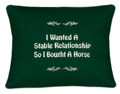 Item # P466 I wanted a stable relationship so I bought a horse.