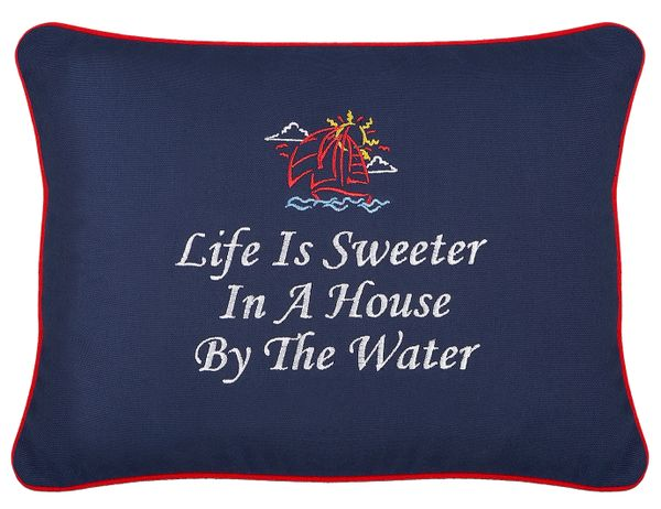 Item # P656 Life is sweeter in a house by the water.