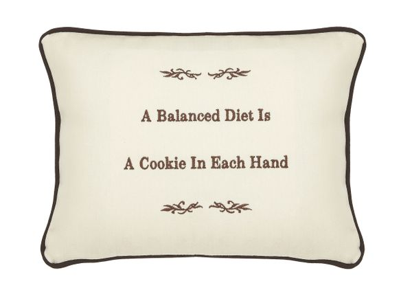 Item # P044 A balanced diet is a cookie in each hand.