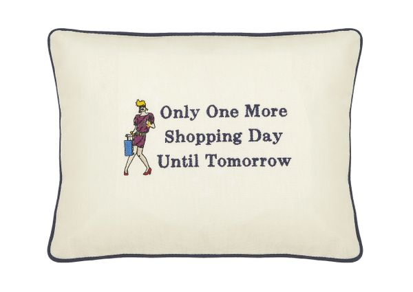 item # P061 Only one more shopping day until tomorrow.