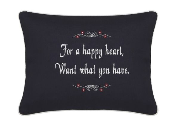 Item # P789 For a happy heart, want what you have.