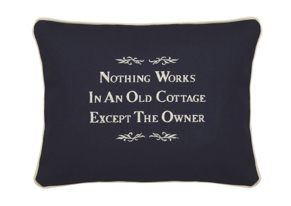 Item # P128 Nothing works in an old cottage except the owner.
