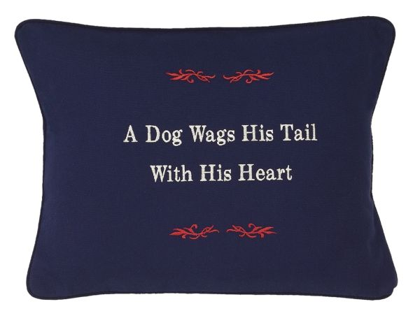 Item # P071 A dog wags his tail with his heart.