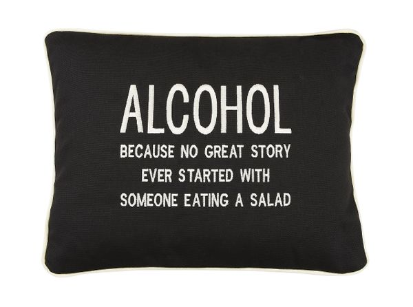 Item # P131 ALCOHOL Because no great story ever started with someone eating a salad.