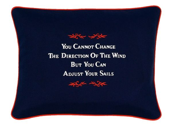 Item # P132 You can't change the direction of the wind, but you can adjust your sails.