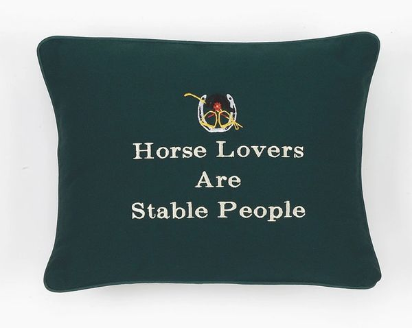 Item # P134 Horse lovers are stable people.