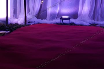 Red Carpet and red rope chrome plated stanchion post with lighting rental with DJLightfoot305
