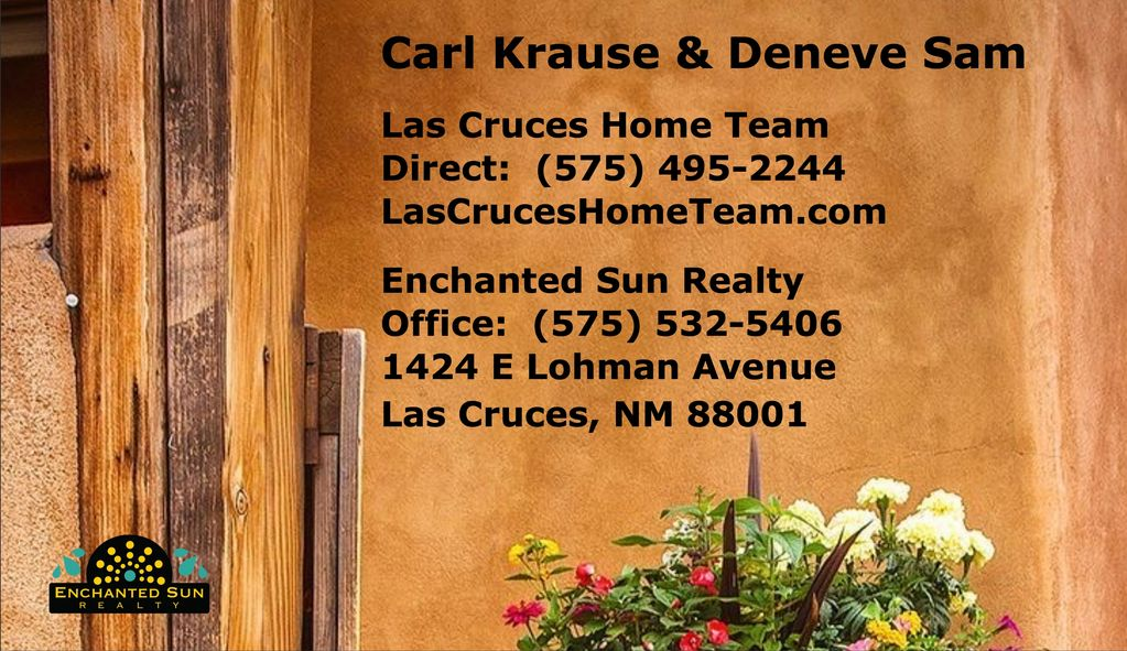 Las Cruces Homes for Sale, Las Cruces Home Team, Carl Krause and Deneve Same Contact Us