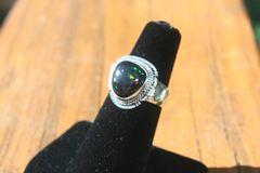 Ethiopian Black Opal Ring - R910