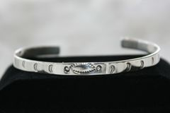 All Silver Navajo Bracelet - BR114 - SOLD