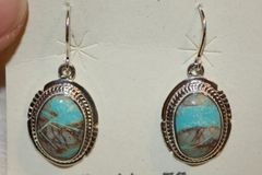 Boulder Turquoise Earrings - BL336 - SOLD