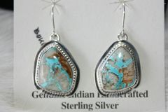 Boulder Turquoise Earrings - BL472 - SOLD
