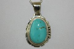 Turquoise Mountain Mine Turquoise Pendant - P424