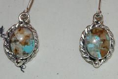 Boulder Turquoise Earrings - BL3240