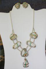 Boulder Turquoise Necklace & Earrings Set - BL421