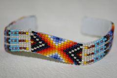 Navajo Beaded Leather Bracelet - BR1417 - SOLD