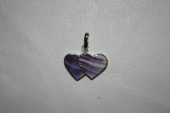 Wampum Double Heart Pendant - P303