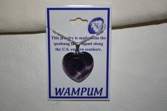 Wampum Heart Necklace with Swirl - N301