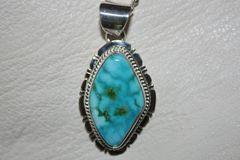 Turquoise Mountain Mine Turquoise Pendant - P661