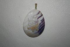 Wampum Turtle Pendant - P305