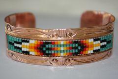 Navajo Copper Beaded Bracelet - BR1557 - SOLD