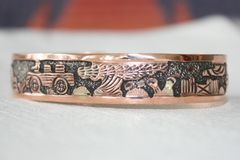 Navajo Copper Storyteller Bracelet - BR1105 - SOLD