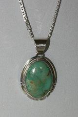 Emerald Valley Mine Turquoise Pendant - P7562