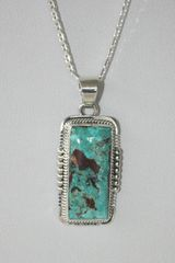 Battle Mountain Blue Gem Turquoise Pendant - P6720