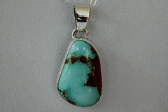 Boulder Turquoise Pendant - BL3842 - SOLD