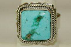 Turquoise Mountain Mine Turquoise Ring - R4603 - SOLD