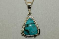 Turquoise Mountain Mine Turquoise Pendant - P2722