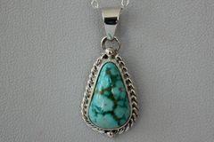 Turquoise Mountain Mine Turquoise Pendant - P3241
