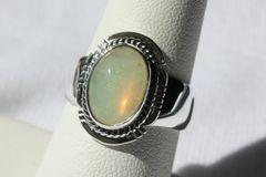 Ethiopian Rainbow Opal Ring - R911