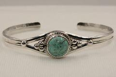 Number 8 Mine Turquoise Bracelet - N83563 - SOLD