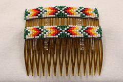 Set of 2 Beaded Haircombs - HC851