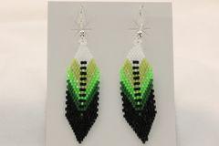 Navajo Made Beaded Earrings - ER992 - SOLD