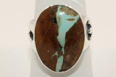 Boulder Turquoise Ring - BL4205 - SOLD
