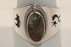 Boulder Turquoise Ring - BL3843 - SOLD